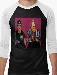 Baby Blue Men's Baseball ¾ T-Shirt