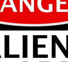 DANGER ALIENS IN AREA FAKE FUNNY SAFETY SIGN SIGNAGE Sticker