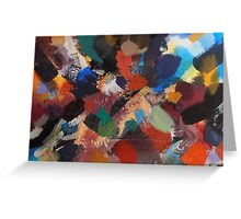 Divine Intervention Abstract Painting by Jenny Meehan Greeting Card