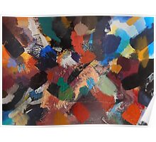 Divine Intervention Abstract Painting by Jenny Meehan Poster