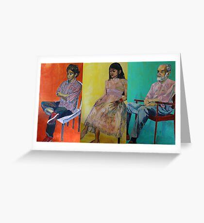 omar, ahn-thu and dr. weiss Greeting Card