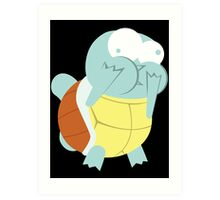 Squirtle About to Barf Art Print