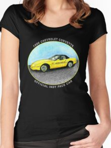 Corvette Indy Pace Car Women's Fitted Scoop T-Shirt