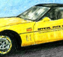 Corvette Indy Pace Car Sticker