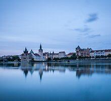 Prague Riverside by Monika Nakládalová