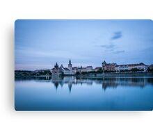 Prague Riverside Canvas Print