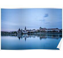 Prague Riverside Poster