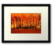 this bin is on fire Framed Print