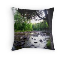 Flowing. Throw Pillow