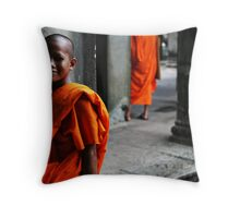 In the temple Throw Pillow