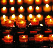 Church candles by Frederic Chastagnol