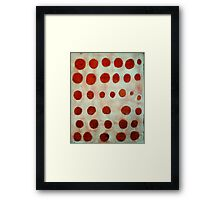 red spots Framed Print