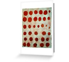 red spots Greeting Card