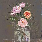 Rose Spatters by arline wagner