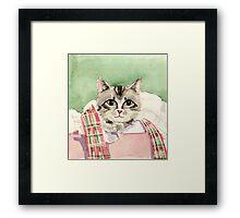 Christmas Cat Framed Print