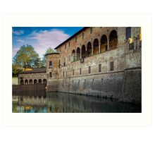 Italian Castle - San Vitale Castle of  Fontanellato Art Print