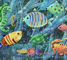 Underwater Maze by arline wagner