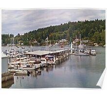 Gig Harbor Marina, Washington State Poster