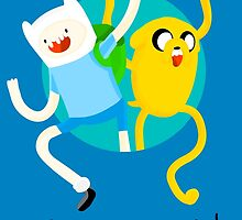 Adventure Time! with Finn and Jake by fuaddanny