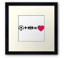 Lo + Li = love Framed Print