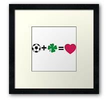 L + N = love Framed Print