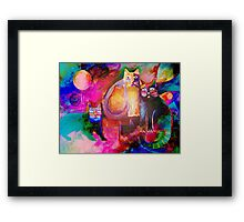 Colourful Cats Framed Print