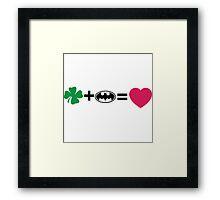 N + Li = love Framed Print