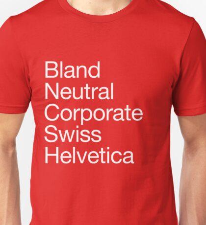 Helvetica protest Unisex T-Shirt