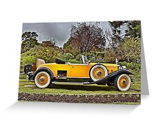 1930's Yellow Packard at Carrack Hill Greeting Card