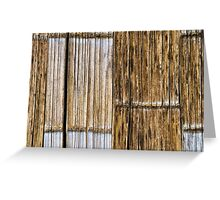 Bamboo Wall Greeting Card