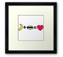 H + Li = love Framed Print