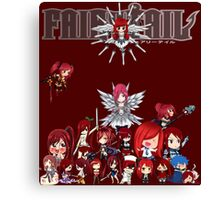 Fairy Tail many faces of Erza anime shirt Canvas Print