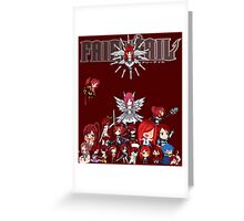 Fairy Tail many faces of Erza anime shirt Greeting Card