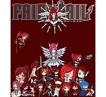 Fairy Tail many faces of Erza anime shirt Photographic Print