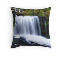 Waterfall at Rice Dam (Left Side) Throw Pillow