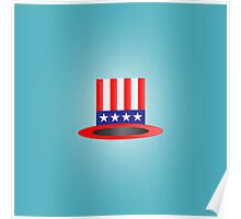 4th of july hat Poster
