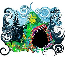 PSYCHEDELIC GREAT WHITE SHARK Photographic Print
