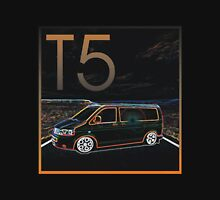 Glowing T5 Transporter vw camper Unisex T-Shirt