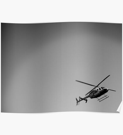Hello Helicopter Poster