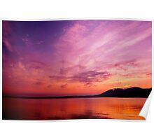 """Hudson River, NY Sunrise"" Poster"