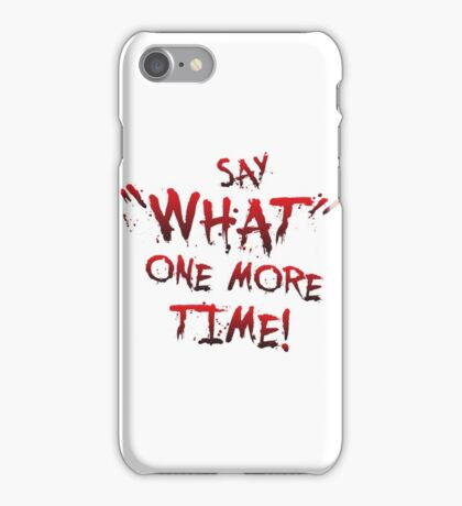 """Say """"What"""" One More Time! Pulp Fiction Typography iPhone Case/Skin"""