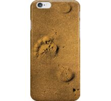 Sandy footprints iPhone Case/Skin