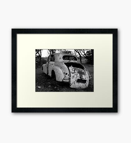 Preloved Car Framed Print
