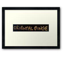 Ginger Ginge Oriental Ice Cream Sign Framed Print