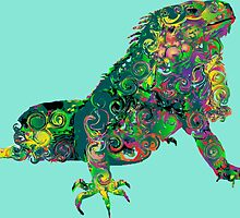 PSYCHEDLIC IGUANA by sleepingmurder