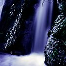 small waterfall on the Milford road by Paul Mercer
