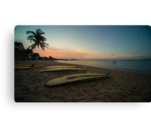 Paddle board twylight  Canvas Print