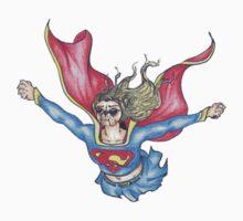 Superhero x French Bulldog 3 of 11 series 2 One Piece - Short Sleeve