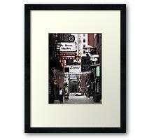 Printers Alley.... Framed Print