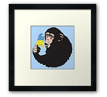 Oooooz Chimp Framed Print